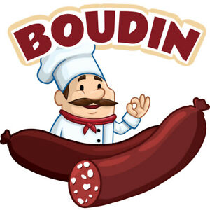 Boudin Concession Decal Sign Cart Trailer Stand Sticker Equipment