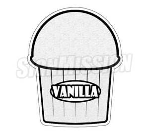 Vanilla Flavor Italian Ice Decal Shaved Ice Cart Trailer Stand Equipment
