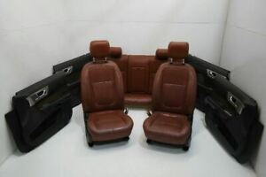 2009 2010 Jaguar Xf Supercharged Front And Rear Seats With Door Panels Leather