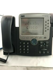 Cisco Systems 7970 Series Unified Voip Ip Phone With Handset