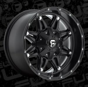 17x9 Et 12 Fuel D531 Hostage 8x170 Matte Black Wheels Set Of 4