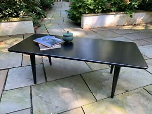 Mcm Black Oak Coffee Table Designed By Hans J Wegner For Carl Hansen