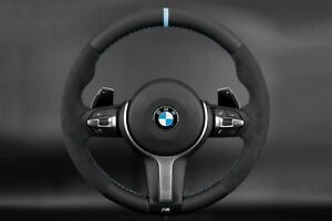 Bmw F30 F31 F20 X4 X5 X6 M Performance Steering Wheel Alcantara Nappa Blue Ring