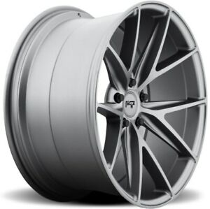 20x9 Et35 Niche M116 Misano 5x120 Matte Anthracite Wheels set Of 4
