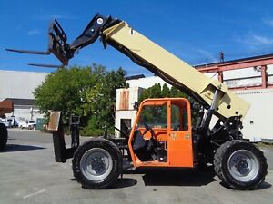 2013 Jlg G10 55a Telescopic Boom Forklift 10 000lbs Auxiliary Hydraulics