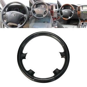 Tan Leather Wood Steering Wheel Cover For 04 09 Sienna Tacoma Highlander Camry