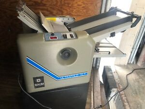 One Baum Ultrafold 714xlt 714xltb 2 p 1 Air Feed Paper Folder Pump And Cart