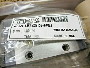 Thk Ssr25xw1ss 640ly Linear Bearing Linear Rail 640mm Long new Slide