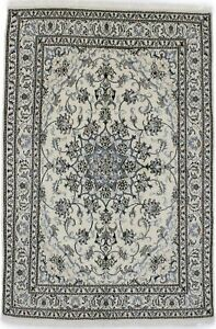 Hand Knotted Floral Nain 5 4x8 2 Traditional Oriental Wool Rug Home Decor Carpet