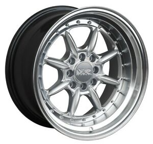 16x8 0 Xxr 002 5 4x100 114 3 Hyper Silver Wheels set Of 4