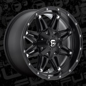 Fuel Hostage D531 18x9 8x6 5 Et 12 Matte Black Rims New Set 4