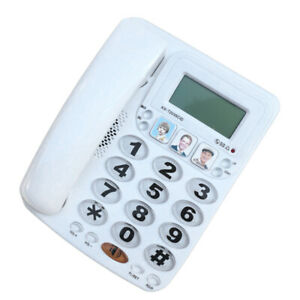 Corded Home Office Landline Speaker Phone With Caller Id Desk Decor