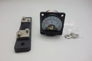 1pc Dc 0 50a Analog Ammeter Panel Amp Current Meter So45 Cutout 45mm With Shunt