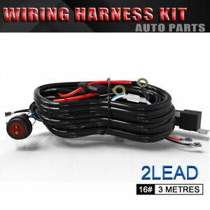 New Wiring Harness Kit With 5 Pin On Off Rocker Switch For 3w 500w Light Bars