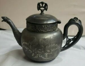 Silver Vintage Lexington Quadruple Plated Teapot Victorian Gothic 619