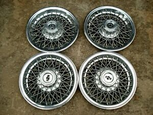 Set Gm Wire Wheel Covers Part 25505491 1980 1987 Buick Regal Fit Malibu Etc