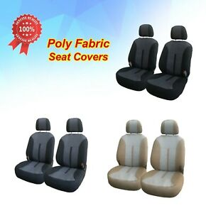 Cloth Fabric 2 Front Car Seat Covers For Mitsubishi 3161