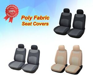 2 Front Car Seat Covers Cloth Fabric For Jeep 3160