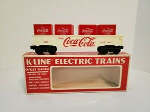 K-Line #6517 COCA COLA Gondola Train Car With 4 Crates / NIB C-9 FREE SHIPPING