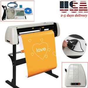 28inch Plotter Machine Vinyl Cutter Plotter Sign Cutting Plotter Device stand Us