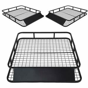 48 Universal Roof Rack Cargo Travel For Suv Car Top Luggage Carrier Basket