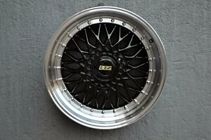 4 Wheels 18 Inch Black With Polish Lip Rims Fits Et20 Ford Focus St 2013 2019