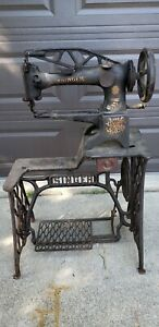 Vintage Singer 29 4 Industrial Cobbler Leather Treadle Sewing Machine Used