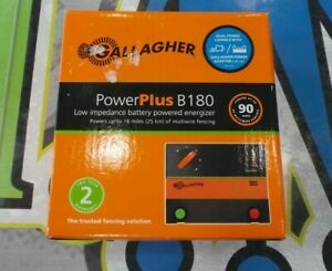 New Gallagher B180 Battery Powered Electric Fence Charger Energizer Fencer 1 8j