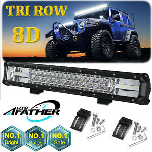 20 Inch Cree Led Work Light Bar 1620w Flood Spot Combo Offroad Driving Lamp 21