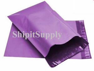 1 1000 9x12 Purple Color Poly Mailers Shipping Boutique Bags Fast Shipping