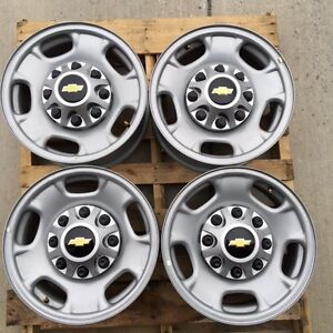 8 Lug 17 Chevy Truck Steel Wheel Rims With Chevy Centers