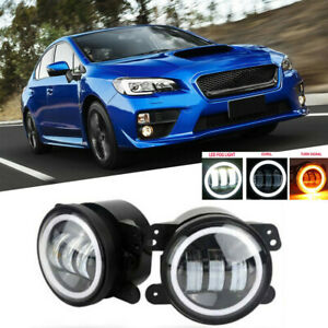 2x Fog Light Lamp Replacement 4inch Halo For Acura Honda Ford Nissan Subaru
