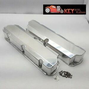 Small Block Ford Fabricated Valve Covers Polished Aluminum 289 302 351w No Hole