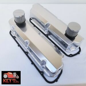 Small Block Ford Fabricated Valve Covers Satin Aluminum 289 302 351w Breathers