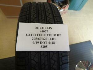 1 New Michelin Lattitude Tour Hp 275 60 20 114h Tire Wo Label 44077 Q9