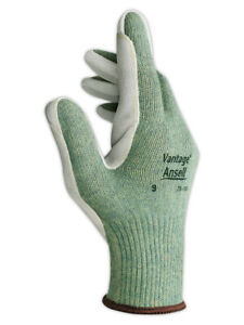 Ansell Vantage 70 765 Dupont Kevlar Blended Knit Glove With Leather Palm Cut 4