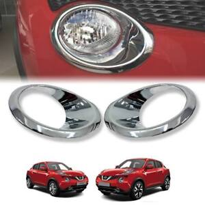 For Nissan Juke 2014 2018 Cover Front Headlight Lamp Chrome Trim Abs