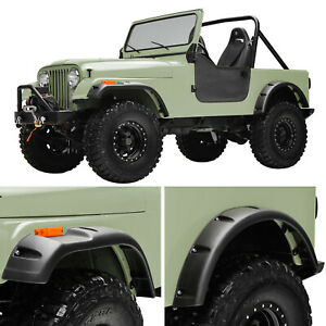 Fit 59 86 Jeep Wrangler Cj5 6 7 Pocket Rivet Abs Wide Body Fender Flares