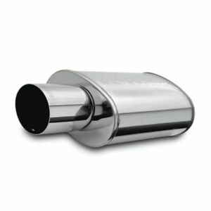Magnaflow Stainless Oval Muffler With Tip Race Series 3 Inlet 4 Outlet 14834
