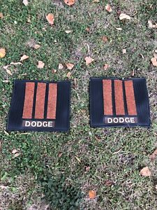 Vintage Retro Dodge Mopar Rear Seat Floor Mats