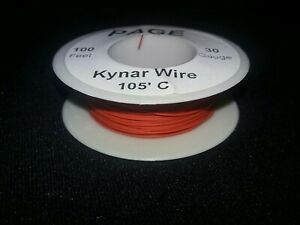 30 Awg Solid Kynar Wire Ul1423 Red 100 Ft Spool
