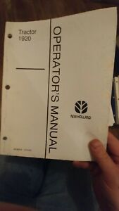 Ford New Holland 1920 1910 2120 1720 Tractor Operator s Manual Choice
