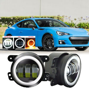 Fit For Subaru Brz 13 16 Pair Bumper Fog Light Lamp 30w Halo Replacement 4 Inch