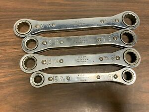 Lot Of 4 Mac Tools Rw Double Ratchet Box End Wrench 12 point