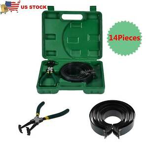 Professional Piston Ring Compressor Cylinder Installer W Plier 14 Band Tool