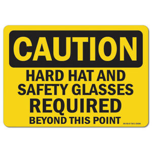 Osha Caution Sign Hard Hat Glasses Shoes made In The Usa