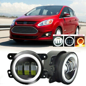 Fit For Ford Fusion 13 16 Pair Bumper Fog Light Lamp 30w Halo Replacement 4 Inch