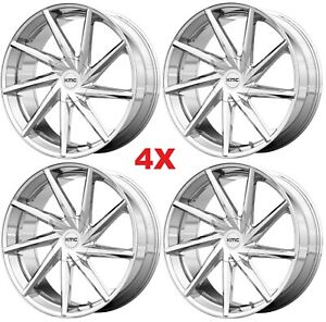 22 Chrome Wheels Rims Kmc Yukon Tahoe 1500 Escalade
