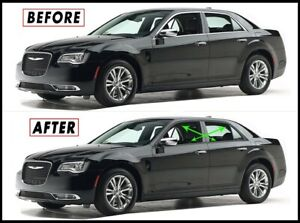 Chrome Delete Blackout Overlay For 2011 21 Chrysler 300 Window Trim
