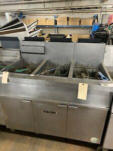 Vulcan Fryer Gas 3 Battery 45 50 Lb W Filtration